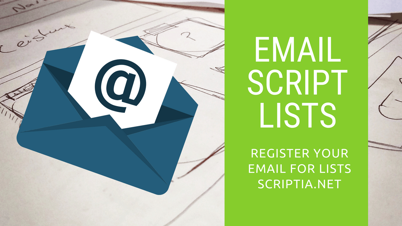 Register Your Email to be Used With Scripts in Lists